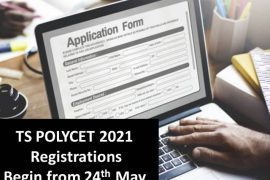 TS POLYCET 2021 Registrations to Begin from 24th May, Apply for Telangana Polytechnic Exam at polycetts.nic.in